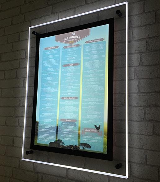 Expositor de pared acr lico display retroiluminado metacrilato - Pared de metacrilato ...